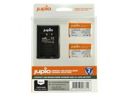 Set Jupio 2x baterie NP-BX1 + nabíječka pro Sony