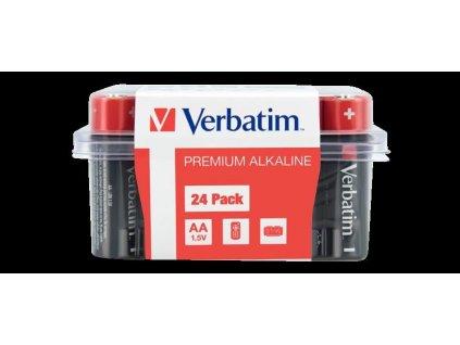 VERBATIM AA Alkalická Baterie 24 Pack / LR6