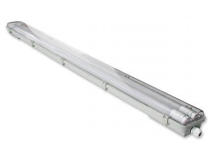 Svítidlo clear + 2x LED trubice - T8 - 120cm - 18W - studená bílá 6500K - SADA