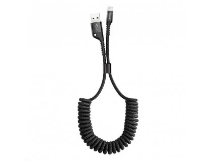 Baseus Fish Eye pružinový nabíjecí / datový kabel USB na Lightning 2A 1m, černá