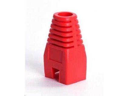 Ochrana pro konektor RJ45, non-snag-proof - červená, 100ks