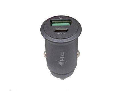 iTec Car Charger 1x USB-C PD 30 W, 1x USB QC 3.0