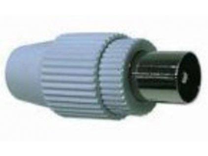 KONEKTOR anténní TV, IEC přímý-M, 75 Ohm