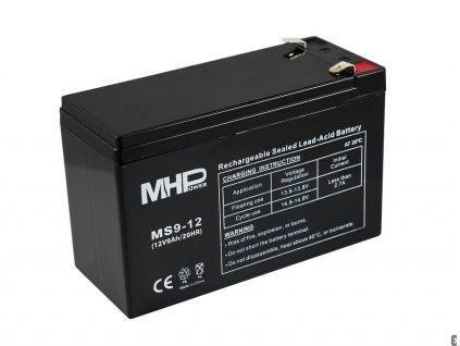 Baterie MHPower MS9-12 VRLA AGM 12V/9Ah, náhrada za RBC17