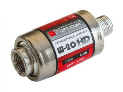 """TV linkový zesilovač OPTICUM AX-W20 VHF/UHF, 20dB/5-12V """"F"""""""
