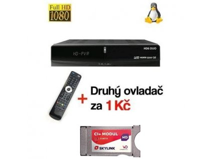 Skylink Ready set DREAMSKY HD6 DUO DVB-S2 HbbTV + Modul CAM 701 Viaccess