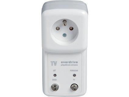 Ochrana TV-OVERDRIVE F6 přepěťová bílá