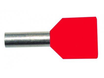 PROTEC Dutinka PAEH 10/14mm lisovací rudá dvojitá