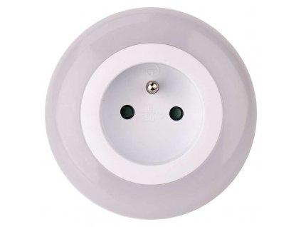 EMOS Svítidlo LED E-34202 3LED 230V noční do zásuvky s fotosenzorem a průchozí zásuvkou