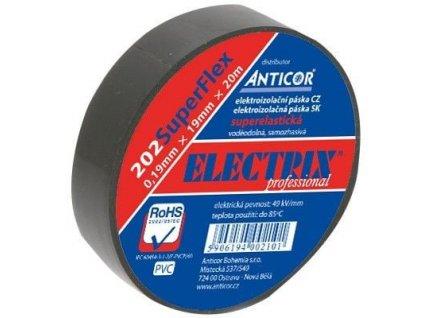 ANTICOR Páska izolační 19/20m PVC černá PROFI
