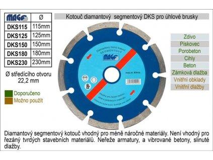 INNA Kotouč DKS 125mm diamantový