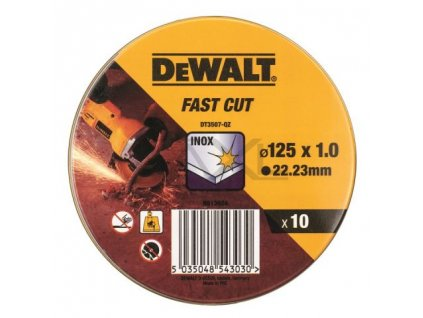DeWALT Sada DT3507 řezacích kotoučů na kov 125x1,0 mm 10 ks