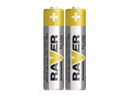 RAVER Baterie SOLAR NiMH AAA 400 mAh HR03