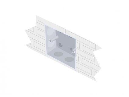 PANLUX Krabice pro nástěnný bezdrátový ovladač