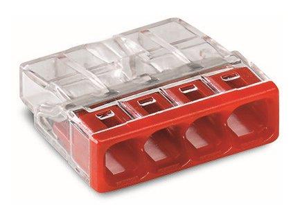 WAGO Svorka 2273-204 4x0,5-2,5mm červená