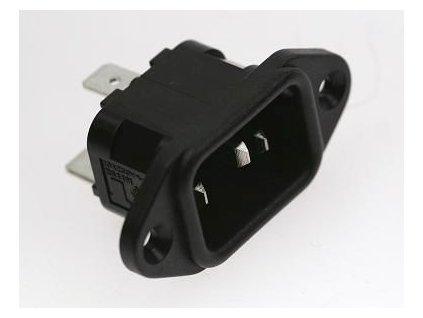OMEGA Zásuvka PX 580/63 Faston přístrojová