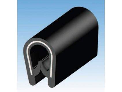 MOREK Chránič hran plechů 2mm svitek 10m černá
