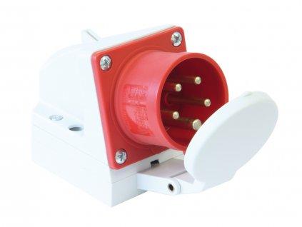 PCE Přívodka 32A/400V 5-pól. IP44 nástěnná s víčkem