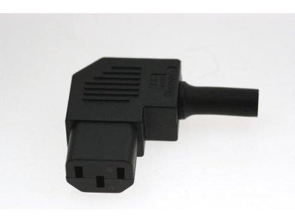 BULGIN Zásuvka-spojka 230V/10A kabelová lomená černá