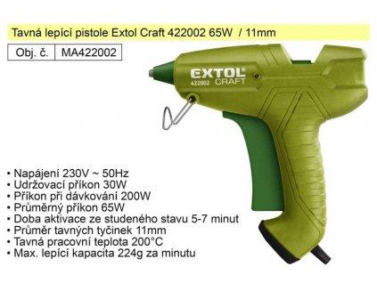 Pistole EXTOL CRAFT 65W/11 mm tavná