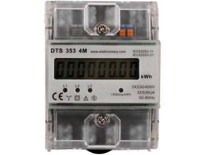 Elektroměr DTS 353 4M, přímé měření 5-80