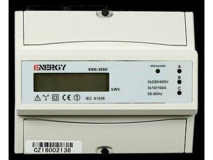 ENERGY Elektroměr ENG-305D 10-100A 3f.1s LCD, neověřený