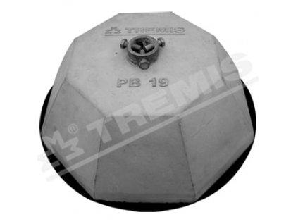 TREMIS Podstavec PB19 betonový L=340mm, materiál:FeZn