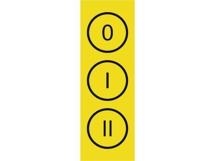 CUPRO Tabulka0 I II označení vypínacísamolep.malá