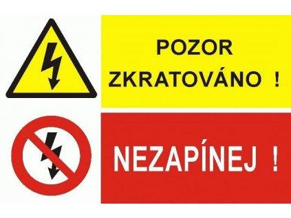 Tab.POZOR ZKRATOVÁNO/NEZAOP. A4 P