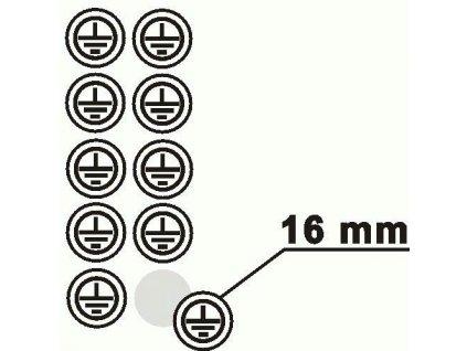 Tab. DT012H-znak uzem. kruh 10ks F