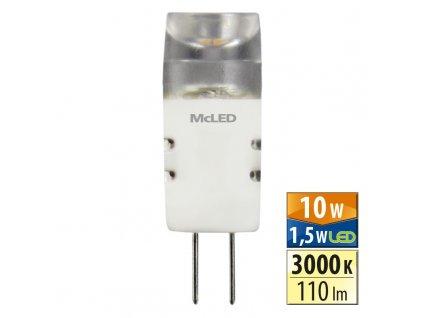MCLED Žárovka LED 1,5W-10 G4 3000K 180°