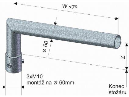 KOOPERATIVA Výložník SK 1-1000 žárový zinek sadový