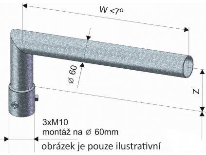 KOOPERATIVA Výložník SK 2- 500/180 žárový zinek