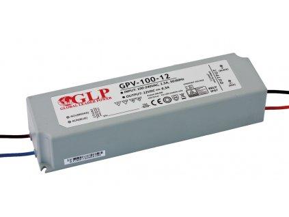 DELTA Napaječ LED 12V 100W GPV nestmívatelný IP67