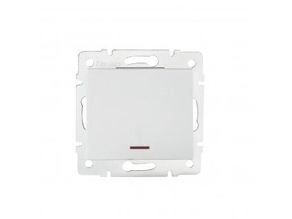 KANLUX Vypínač s LED LOGI jednopolový bílá