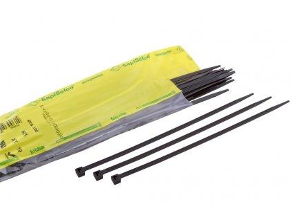 SAPISELCO Pásek vázací 140x3,5 UV odolné, černá (100ks)