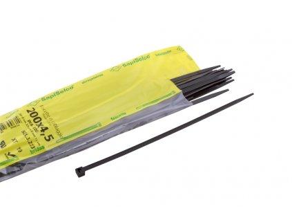 SAPISELCO Pásek vázací 200x4,5 černá (100ks)