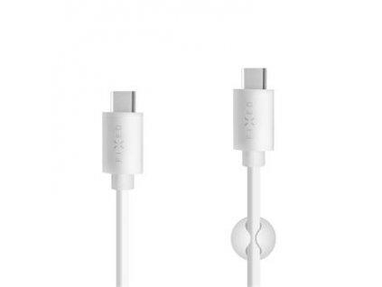 Kabel FIXED USB-C/USB-C, 2m, PD, 60W, bílý