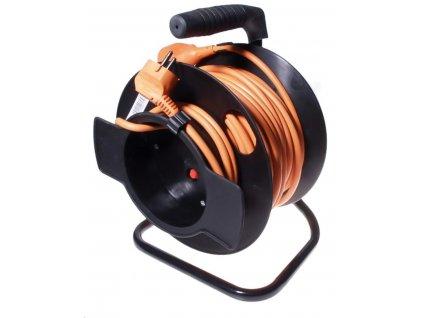 PREMIUMCORD Prodlužovací přívod 230V buben 25m, černá