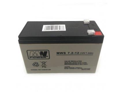 Baterie MW Power 12V / 7,2 Ah AGM gelový akumulátor
