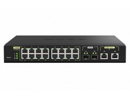 QNAP řízený switch QSW-M2116P-2T2S (16x 2,5GbE PoE+ RJ45 / 2x 10GbE RJ45 PoE++ / 2x 10GbE SFP+)
