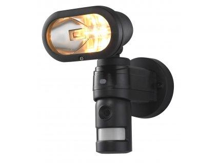 CONNECT Svítidlo halogenové 120W, reflektor s čidlem pohybu a kamerou