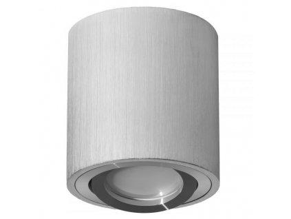 Podhledové bodové svítidlo B7093 výklopné, kruhové - šedá + patice GU10