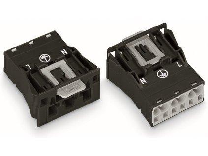 Konektor WAGO 770-713 3p 4mm2 černý
