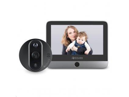 Eques VEIU Mini 2 - Gray digitální dveřní kukátko