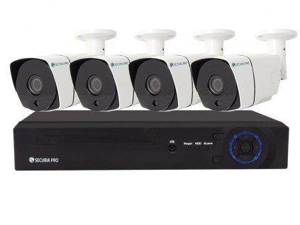 Kamerový set Securia Pro NVR4CHV5-W IP, 5Mpx, 4 kamery, PoE NVR, bílá
