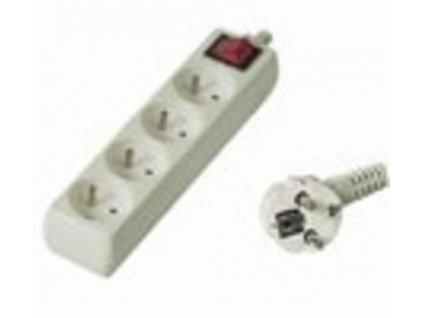 Kabel prodlužka PP4 220V 5m (4zás. + vypínač) POWERGARDEN
