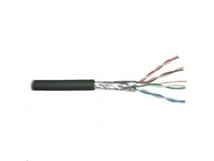 FTP kabel PlanetElite, Cat6, drát, venkovní PE, Dca, černý, 305m, cívka