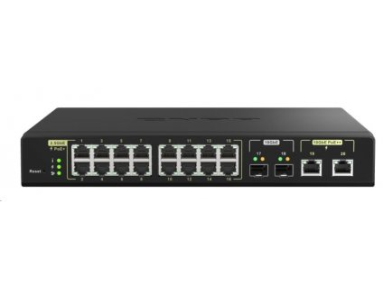 QNAP QSW-M2116P-2T2S (2x10GbE SFP+/2x10GbE RJ45/16x2,5GbE/18xPoE)