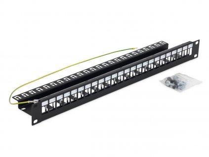 19'' modulární patch panel pro max.24 keystonů